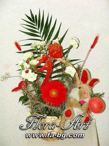Кошница с цветя за Рожден Ден от Flora-Art – Габрово